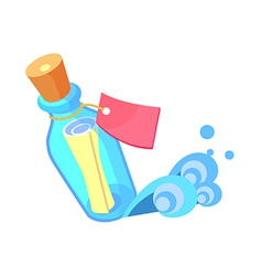 Icon letter in the bottle vector