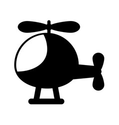 Helicopter flying isolated icon vector