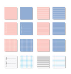 Memo paper note variation design vector