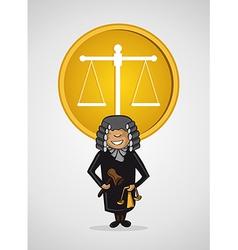 Service judge man cartoon Justice symbol vector image