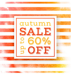 Autumn sale up to 60 percents off banner vector