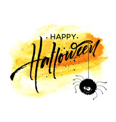 Happy halloween lettering holiday calligraphy for vector