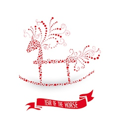 2014 Chinese New Year of the Horse vector image vector image