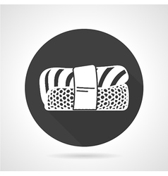 Nigiri sushi black icon vector