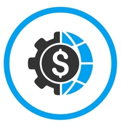 World industry finances icon vector