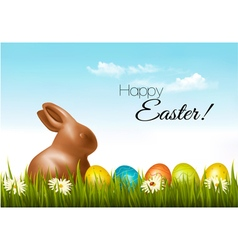 Happy Easter background Easter eggs and a vector image