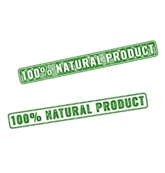 Realistic Natural Product rubber stamp vector image