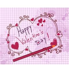 Doodles valentine background vector