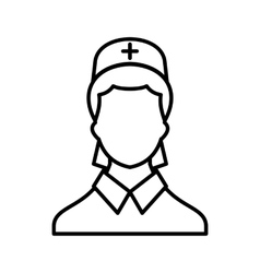 Doctor icon outline style vector