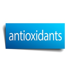 Antioxidants square paper sign isolated on white vector