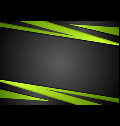 Black and green abstract design vector