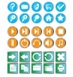 buttons with symbols vector image vector image