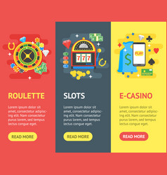 casino banner vecrtical set gambling game vector image vector image