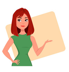 character beautiful business woman 05 vector image vector image