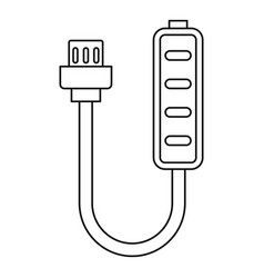 Charger icon outline style vector