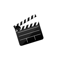 Color clapper board film icon vector