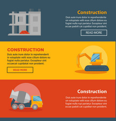 construction and building company web vector image