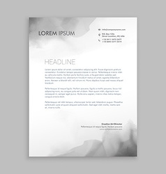 Creative flowing ink letterhead design vector