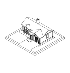 drawing of private house vector image vector image