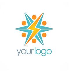 Electric bolt logo vector