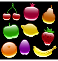fruit collection vector image