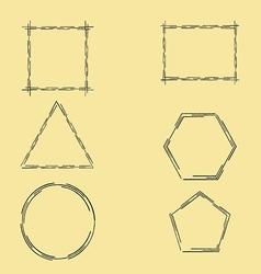 Geometric frames vector