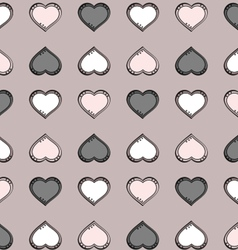 Gray heart Pattern vector image vector image