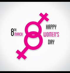 happy womens day greeting design using female symb vector image vector image