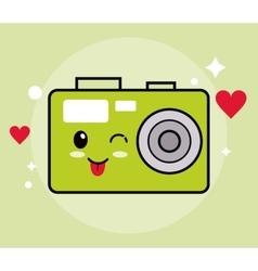 Kawaii icon camera cartoon design graphic vector