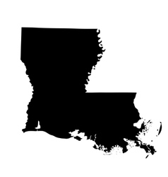 Map of the us state louisiana vector
