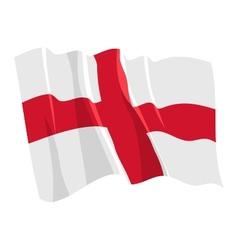 Political waving flag of england vector