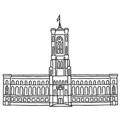 Red city hall berlin vector