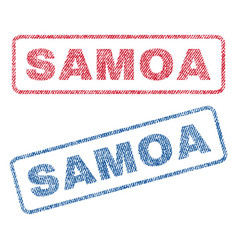 Samoa textile stamps vector