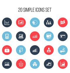Set of 20 editable analytics icons includes vector
