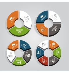 Set of infographics design templates vector image