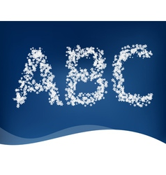 Snow letters for winter design vector image vector image
