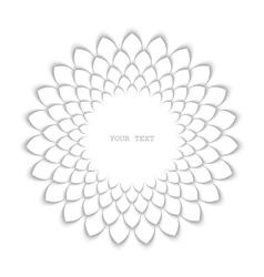 White sunflower vector