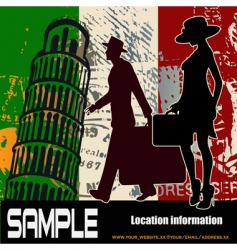 Italian travel background vector