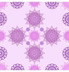 Abstract violet flowers on a pink background vector image