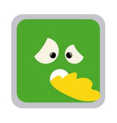 square colorful shape emoticon sick expression vector image