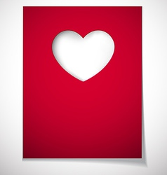 Love greeting card vector
