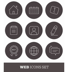 4 Shopping icons set Thin line simple design vector image