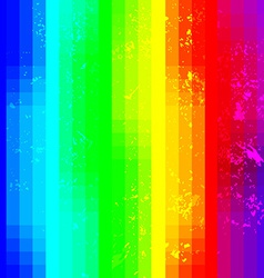 Rainbow abstract squared background with grunge vector image