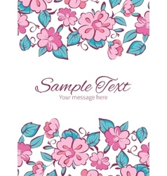 Pink blue kimono flowers vertical double vector
