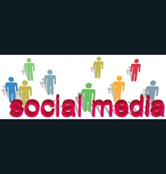 Social media words people symbol text vector