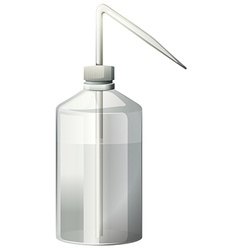 Wash bottle with water inside vector