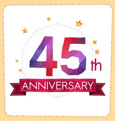 Colorful polygonal anniversary logo 2 045 vector