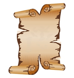 old dirty manuscript with scroll ragged edges vector image