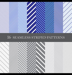 Seamless striped patterns vector
