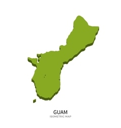 Isometric map of guam detailed vector